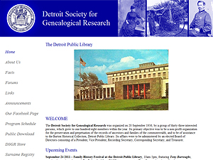 The Detroit Society for Genealogical Research, Inc.