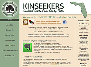 Kinseekers Genealogical Society of Lake County, Florida